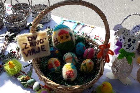 """Sretan i blagoslovljen Uskrs žele Vam djeca i djelatnici Dječjeg vrtića """"Zrno"""" Virje"""