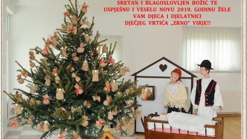 "Sretan i blagoslovljen Božić želi vam Dječji vrtić ""Zrno"" Virje"